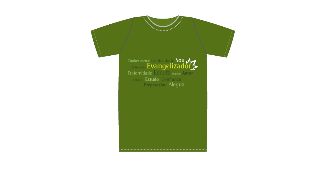 9a2012509 Camiseta - Evangelizador - verde